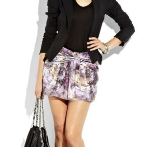 Elizabeth and James Printed Silk Mini Skirt